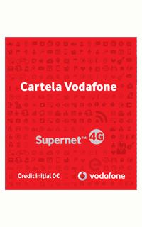 Cartela Vodafone cu 0 credit initial